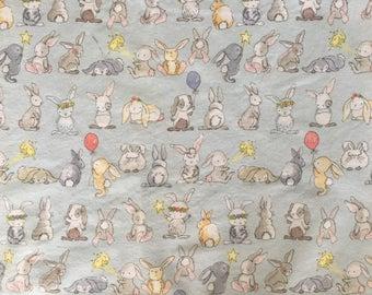 Baby Flannel Wrap - Bunny Friends