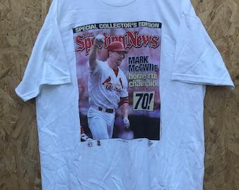 Vintage 90's St Louis Cardinals Mark McGwire Homerun Champion Shirt Size XXL by Delta