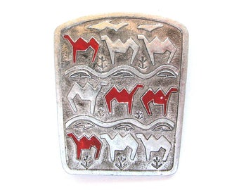 Camels, Rare Vintage Brooch, Pin, Animal, Desert, Vintage metal soviet collectible badge, Made in USSR, 1970s