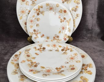 Royal Doulton 70's Sundance pattern luncheon plates and bread and butter plates set