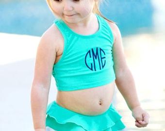Monogram bathing suit, girls monogram bathing suit, toddler monogram bathing suit, toddler bathing suit