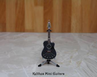 Handmade acoustic miniature guitar pendant