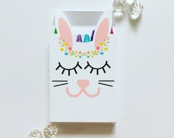 Sleepy bunny crayon boxes