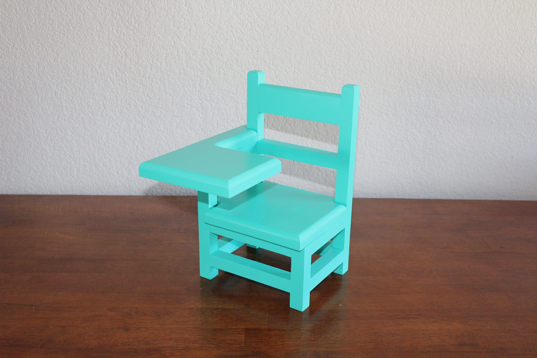 Teal desk AG doll Furniture 18 teal doll furniture AG