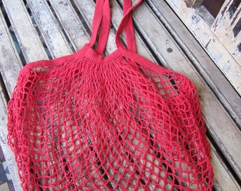 Vintage Red String Bag