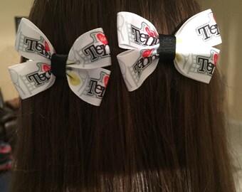 I Love Tennis Hair Bows