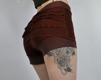 booty shorts,bamboo, Organic,yoga,hotyoga,Dance,Festival,Elven,Flower,Skirt,Clothing,Handmade,skort,yoga,zumba,hoolahooping