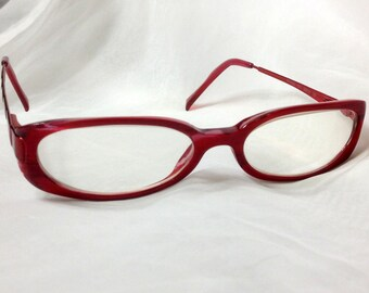 Vogue Red Frame Glasses, made in Italy, FREE Shipping to CA and US