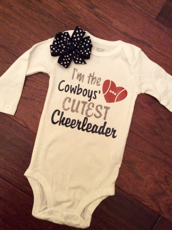 Dallas Cowboys baby girl t set Dallas Cowboys little