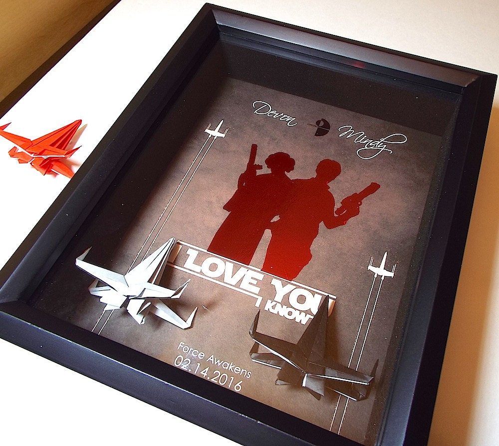 Star wars i love you i know boyfriend gift husband gift for Personalized gifts for boyfriend birthday