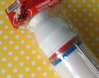 Thermos water bottle holder, bike water bottle, bicycle water bottle holder, retro bike gear, NOS water bottle