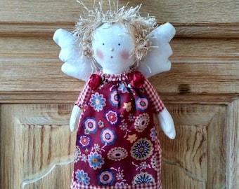 Garnet fabric Angel doll