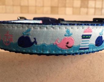 Whaley Good Time Small and Medium Dog Collar and Optional Matching Leash