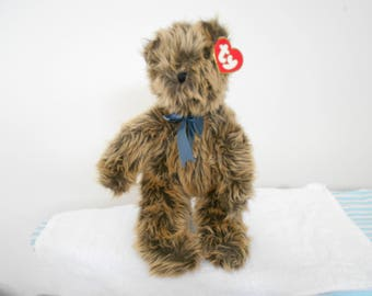 """SALE! 31!Ty Classic Bear """"Pumpkin"""" With Variegated Colored Shaggy Fur and Standing 16"""" Tall/New With Tags/Plush Collection/Retired in 90's"""