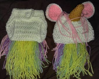 Crochet Unicorn Photo Prop