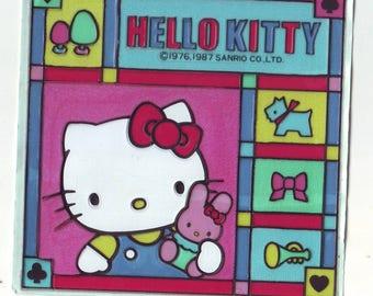 Vintage Hello Kitty Sanrio 1987 Plastic Sticker
