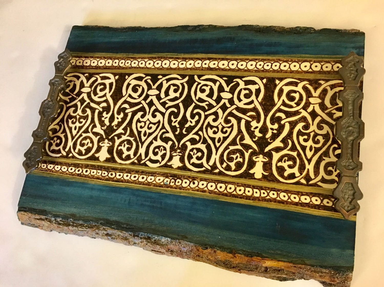 decorative tray medieval arabesque design islamic art home