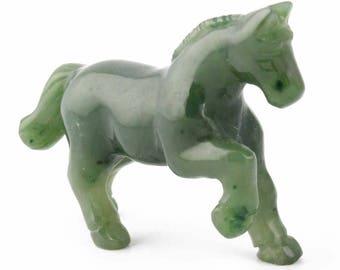 Canadian Nephrite Jade Horse, Prancing