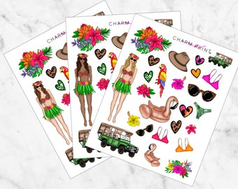 Weekly Kit / ADD ON / Wild / Deco Sheet / Planner Stickers