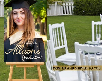 Graduation Welcome Sign - Grad Photo Welcome Party Sign - Welcome Sign Congrats GRAD, Foam Board Sign, Welcome to the Party Sign