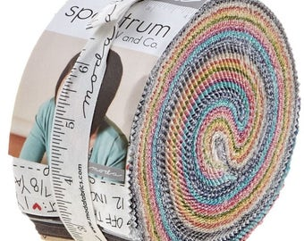 Spectrum Jelly Roll by V & Co. for Moda Fabrics
