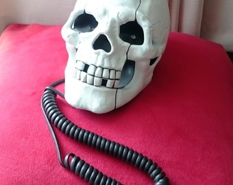 Skull Shape Novelty Telephone, Fathers Day Save 35% Enter Code:DAD35 Offer Ends Sept 4 - Working, Halloween Gift - #560c