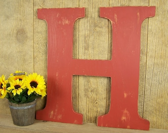 Letter H Wall Decor wooden letter h | etsy