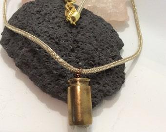 quartz bullet pendant necklace
