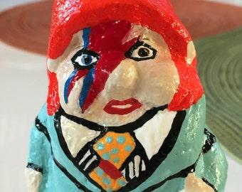 """David Bowie, Ziggy Stardust, parody gnome, """"Gartenzwerg, 5.5"""""""