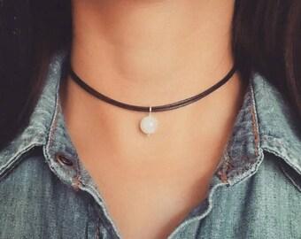 Moonstone Necklace, Moonstone Choker, Moonstone Jewelry, Gemstone Choker Necklace, Crystal Choker, Beaded Choker, Boho Choker Necklace