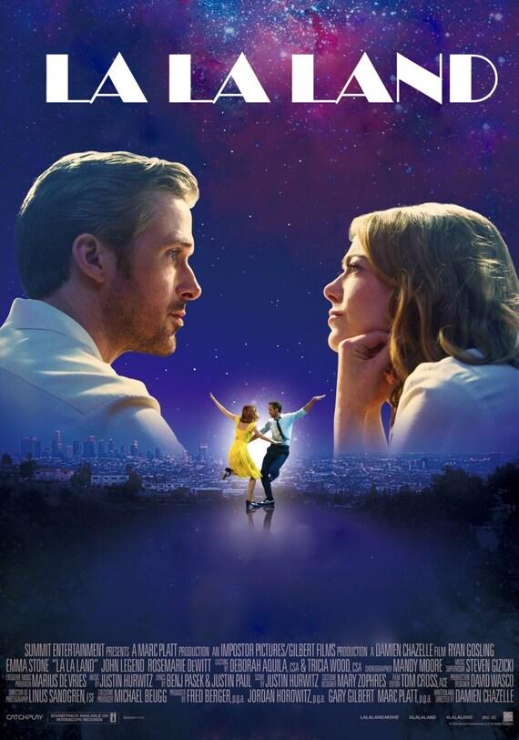 "La La Land 2016 Musical Movie Emma Stone Ryan Gosling Poster, La La Land Print, Emma Stone Poster, Movie Art, Size 13x20"" 24x36"" 32x48"" #6"