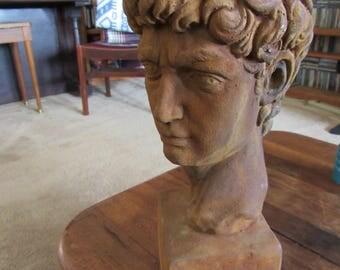 Vintage Sepia Toned Greek Male Bust