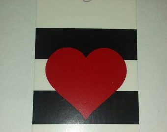 Heart gift tags
