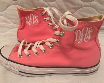 Pink hightop Converse Shoe, Converse Chucks, Size 7 only