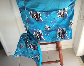 Star Wars on Blue Chair Bag and Library bag combo