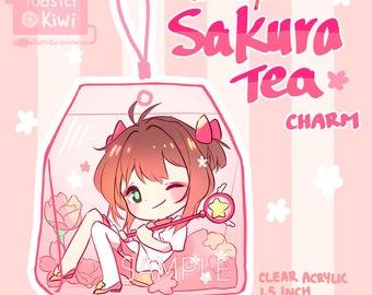CARDCAPTORS Sakura Tea Charm 1.5inch Double-sided clear Acrylic