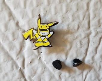 Yellow Pika Ranger enamel pin