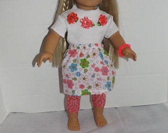 """For 18"""" dolls such as American Girl Doll Clothes  4 Piece Set"""