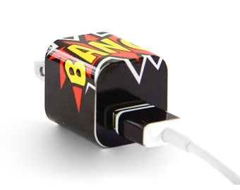 TechTattz Comics Bang USB Charger Decal Skin Wrap Sticker