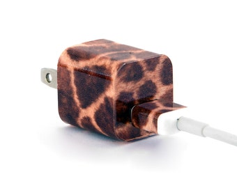 TechTattz Giraffe Print Pattern USB Charger Decal Skin Wrap Sticker