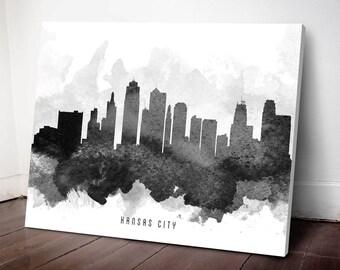 Kansas City Skyline Canvas Print, Kansas City Art, Kansas City Cityscape, Kansas City Art Print, Home Decor, Gift Idea, USMOKC11C