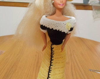 Crochet Fashion Doll Barbie Outfit -CASUAL-Doll included