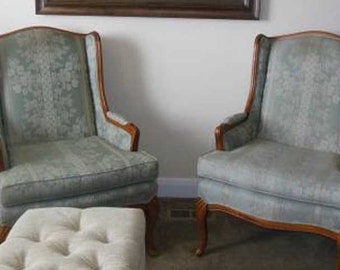 Antique Wingback Set of Chairs Frames-Customize to exactly what you want