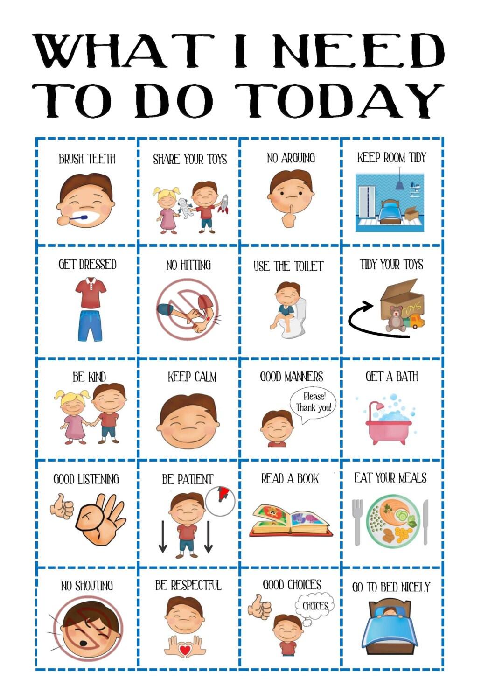 Boys Behaviour Chart Sale Toddler Routine Chart Visual Aid
