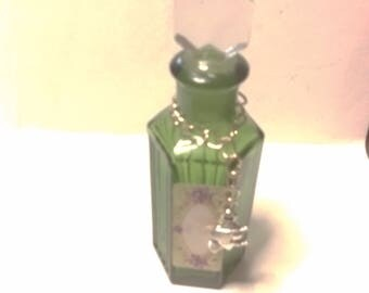 pagan wiccan witch witches potion bottle spell bottle green potion bottle will look great in a witches cupboard oils.spells.mixes potions