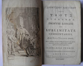 On the Sublime by Longinus Zacharias Pearce Edition 1773