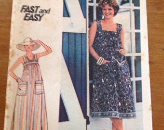 Vintage Butterick 4821 Sun dress Maxi Pattern Size 14