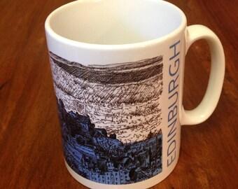 Edinburgh Castle Skyline Mug