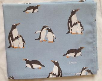 Penguin tea towel - penguin kitchen towel - penguin print - in 100% cotton