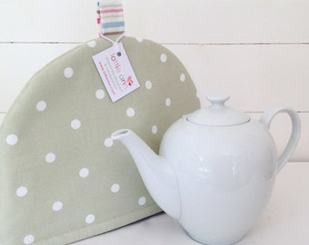 Sage Dotty Tea Cosy
